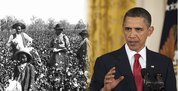 oboma descended from slave owners, according to researchers...id you know that Obama's great-great-great-great grandfather, George Washington Overall, owned two slaves who were recorded in the 1850 census in Nelson County, Ky. and Obama's great-great-great-great-great-grandmother, Mary Duvall, also owned slaves.