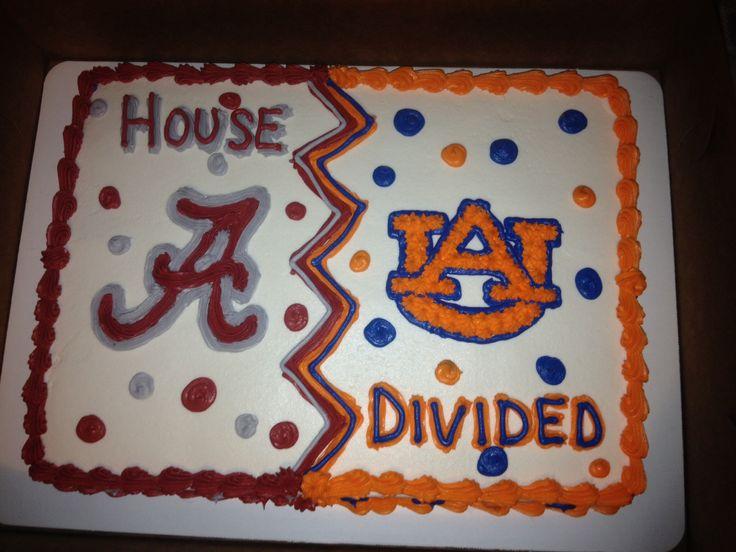 Image result for auburn / alabama house divided sheet cake