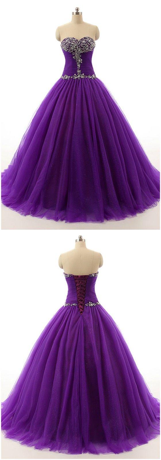 Best 25 purple wedding dresses ideas on pinterest purple purple beaded top sweetheart long tulle formal dress ch0035p 175 gemgrace junglespirit Image collections