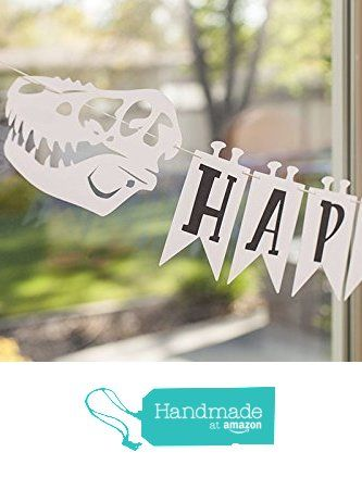 "Dinosaur ""Happy Birthday"" banner 