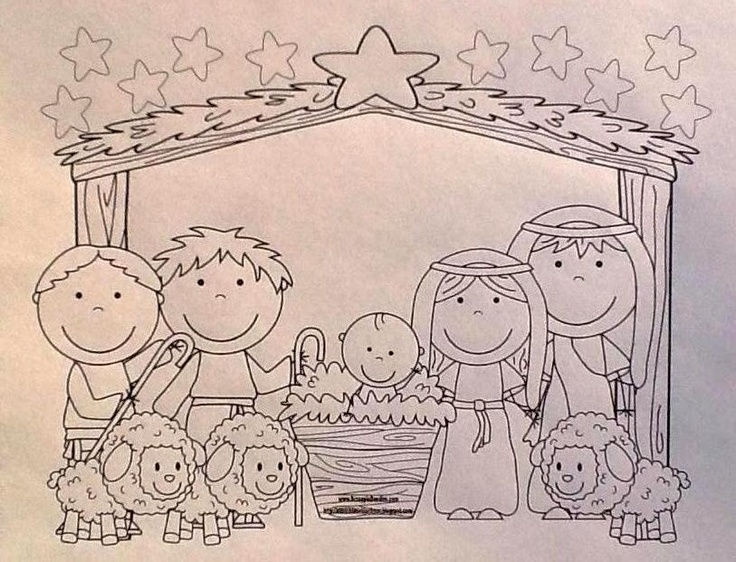 Baby Jesus Song, Picture to Color & More for Preschool printables
