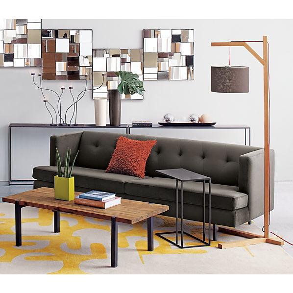 avec pewter sofa in sofas   CB2