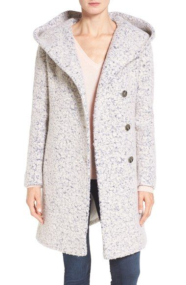 Cole Haan Signature Hooded Bouclé Coat available at #Nordstrom