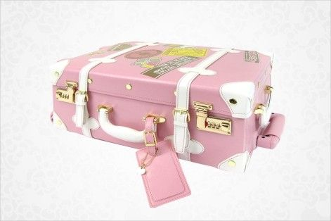 Hello Kitty Vintage Rolling Luggage: Pink Item #63761 BEST SELLER$300.00