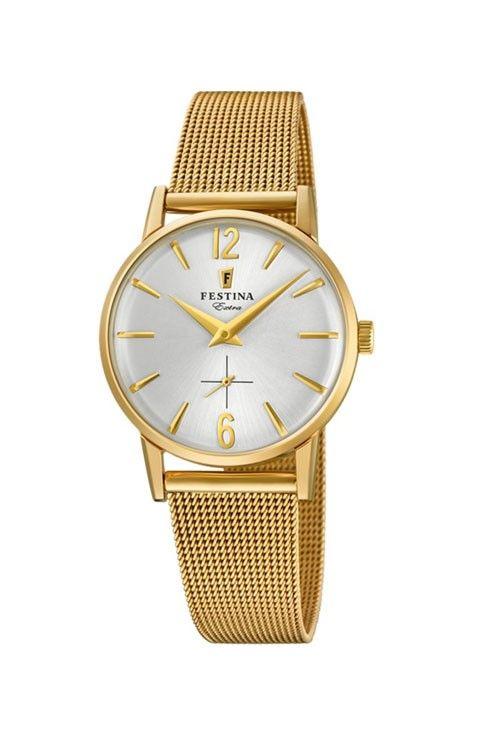 Reloj Mujer Clasico malla milanesa