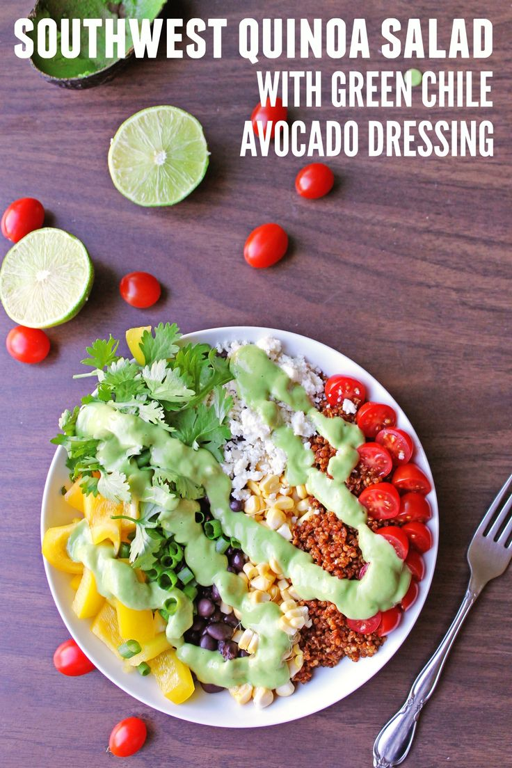 This super simple, vegetarian Southwest quinoa salad is packed full of ...