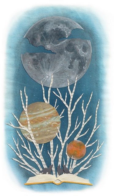 story of the moon by miki sato, via Flickr