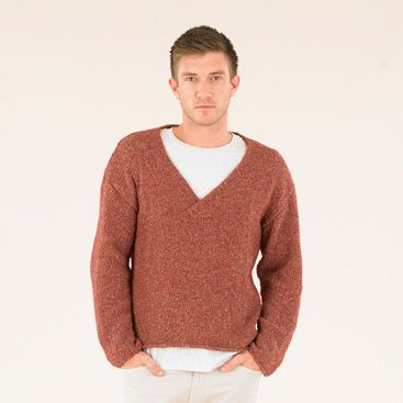 The Cabin Boy sweater  - this understated sweater has all the ease of a sweatshirt but is hand knitted in the softest Sublime Luxurious Aran Tweed. We call it Sublime.