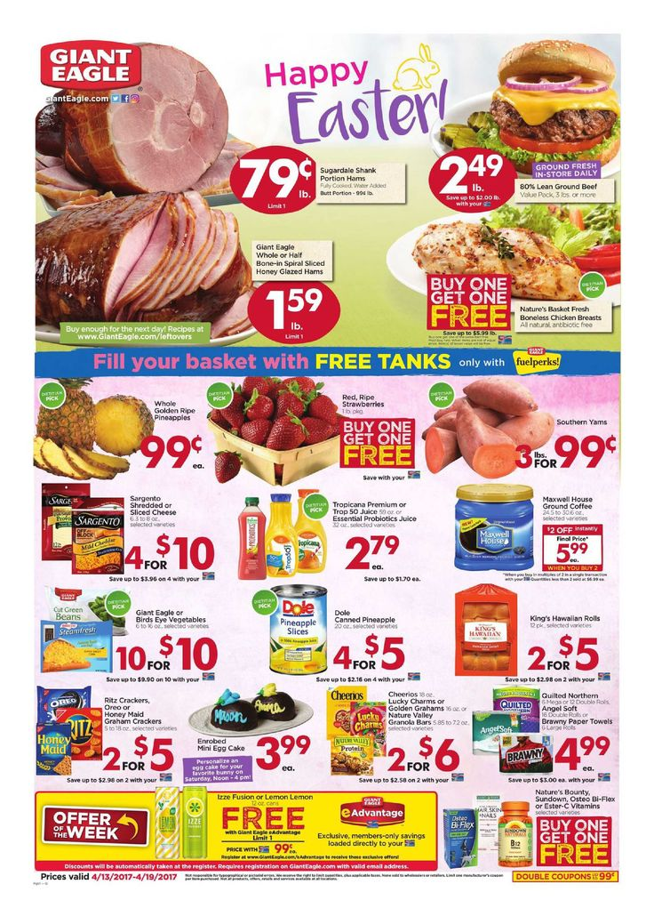 Giant Eagle Weekly Ad April 13 - 19, 2017 - http://www.olcatalog.com/grocery/giant-eagle-weekly-ad.html