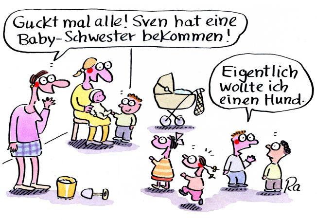 Kigaportal_Kindergarten_Cartoon_Renate-Alf_Baby-Schwester
