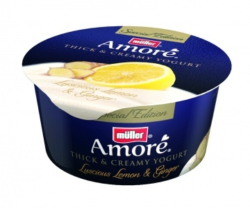 Müller Amoré Luscious Lemon & Ginger Special Edition yogurt