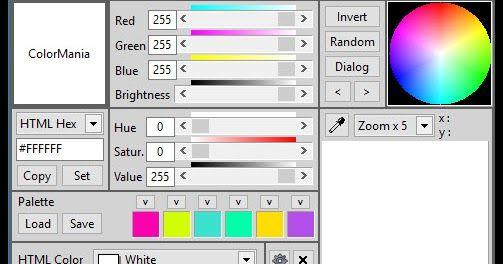 Το Colormania είναι μια προηγμένη εφαρμογή επιλογής χρώματος ειδικά διαμορφωμένη για web-σχεδιαστές γραφίστες και προγραμματιστές εφαρμογών. Υποστηρίζει διάφορα μοντέλα χρώματος. Η ακρίβεια σε επίπεδο pixel γίνεται ευκολότερη με το ενσωματωμένο μεγεθυντικό φακό οθόνης. Περιλαμβάνει τα εξής Formats:  - HTML Color Codes (Hex / CSS) : the most common color code in used in webdesign - Delphi Hex : used with Borland's Delphi language - VB Hex : used with Microsoft's Visual Basic - C Hex : used…