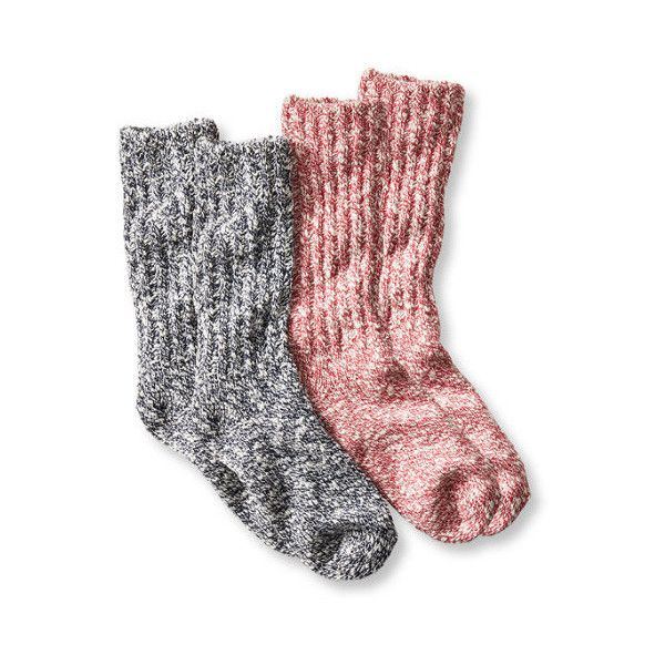 Women's Cotton Ragg Camp Socks,Two-Pack ($20) ❤ liked on Polyvore featuring intimates, hosiery, socks, moisture wicking socks, cotton socks, wicking socks and cotton hosiery