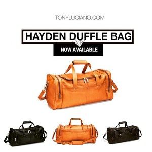 http://TonyLuciano.com | For The Modern Man Who Travels in Style - Tony Luciano Displays The Latest Fashion Men's Wear From Bags To Shoes