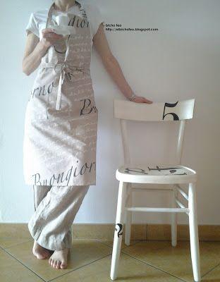 Grembiule in cotone stampato http://elbichofeo.blogspot.com https://www.facebook.com/pages/Bicho-feo/382736388432736?ref=hl...borse, accessori e altro...: #apron #grembiule