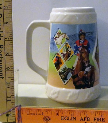"Breeder's Cup 2003 LE Stein Mug Horse Racing Santa Anita Park California 6 1/2""Hors Racing, Horses Racing"
