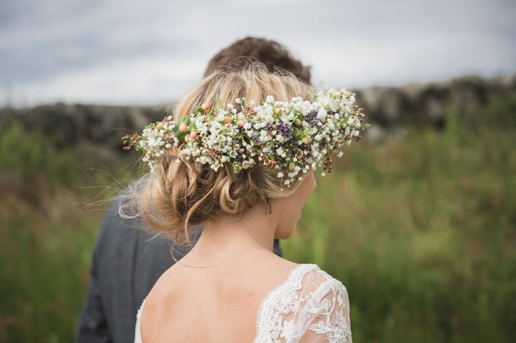 Image by Tandem Photo - One of the prettiest most unusual flower crowns we've seen - check out the rest of Sam's gorgeous Bridal look here.