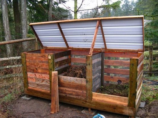 how to build a compost bin from wood pallets tr dg rd pinterest composting wood pallets. Black Bedroom Furniture Sets. Home Design Ideas