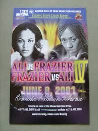 laila ali vs Frazier. The first pay-per-view boxing card to headline women.