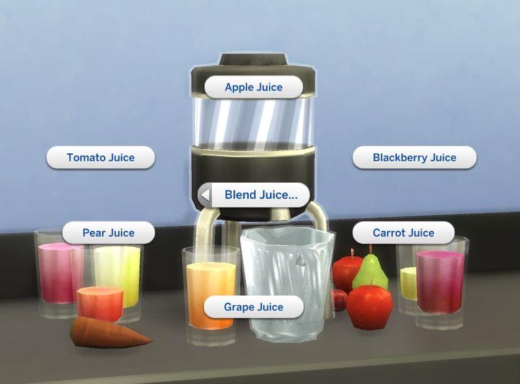 """A pouco tempo o modder plasticboxcriou um mod onde podemos preparar vários tipos de sucos no liquidificador do The Sims 4. Os sabores de sucos são: Maçã, cenoura, pera, tomate, amora e uva.  Como Instalar? Baixe este arquivo:pbox_juiceblender.zip Clique com o botão direito nele e vá em """"Extrair aqui"""". Depois vá em Documentos> Electronic …"""