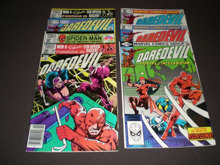 Daredevil 173 - 179, (1981), 1st app of Michael Reese, the Hand, Stick, Marvel by HeroesRealm on Etsy