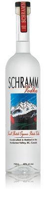 Schramm organic vodka from Pemberton, BC, Canada