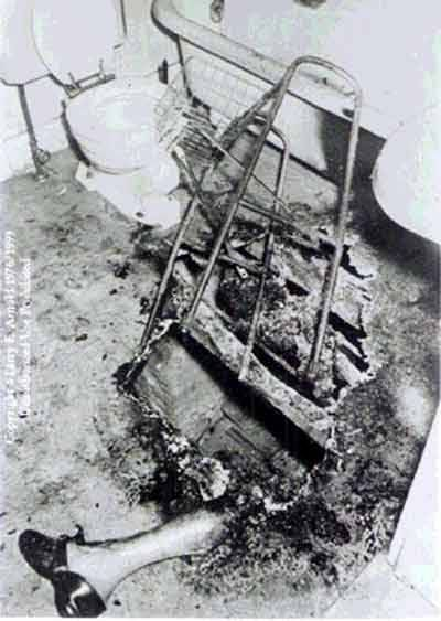 spontaneous human combustion...  Terrifying!