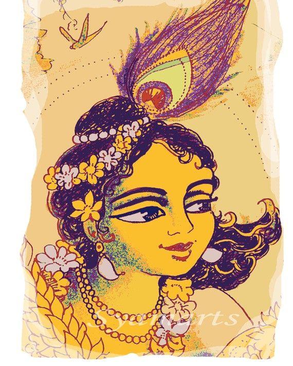 52 best Lord Krishna images on Pinterest | Indian art, Krishna art ...