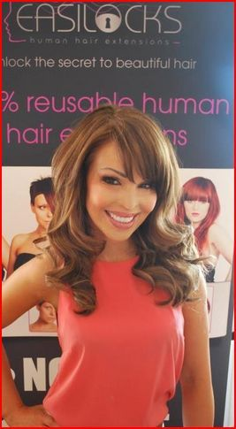 Katie Piper wearing Easilocks Get yours from Gold Hair Extensions!