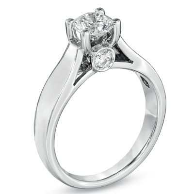 This is my engagement ring!!! 1 CT. T.W. Diamond Solitaire Engagement Ring in 14K White Gold - Zales