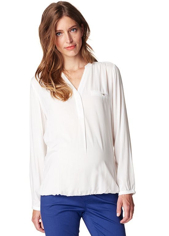 Esprit - Flowing Viscose Blouse in Off White