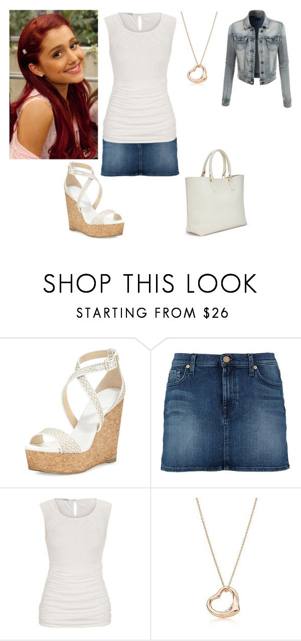 """""""Cat Valentine"""" by charmedgreys ❤ liked on Polyvore featuring Jimmy Choo, 7 For All Mankind, Elsa Peretti and LE3NO"""