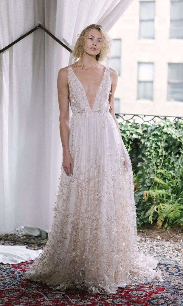 65 Plunging Wedding Gowns For The Daring Bride Wedding Dresses