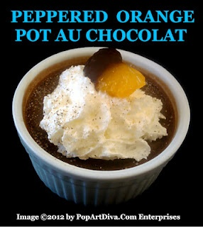 The Diva of Tiny Foods Recipe for PEPPERED ORANGE POT AU CHOCOLAT - Sin a Little!  Click image for the recipe!