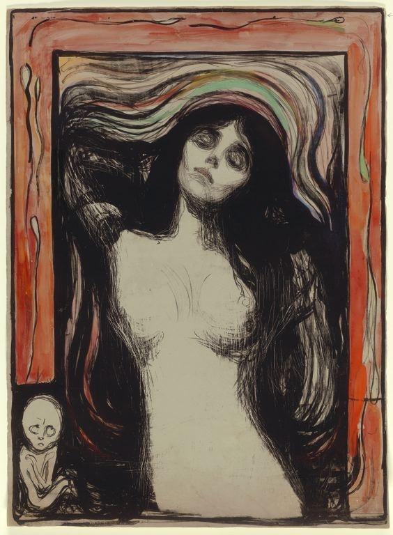 Edvard Munch Madonna 1895-96