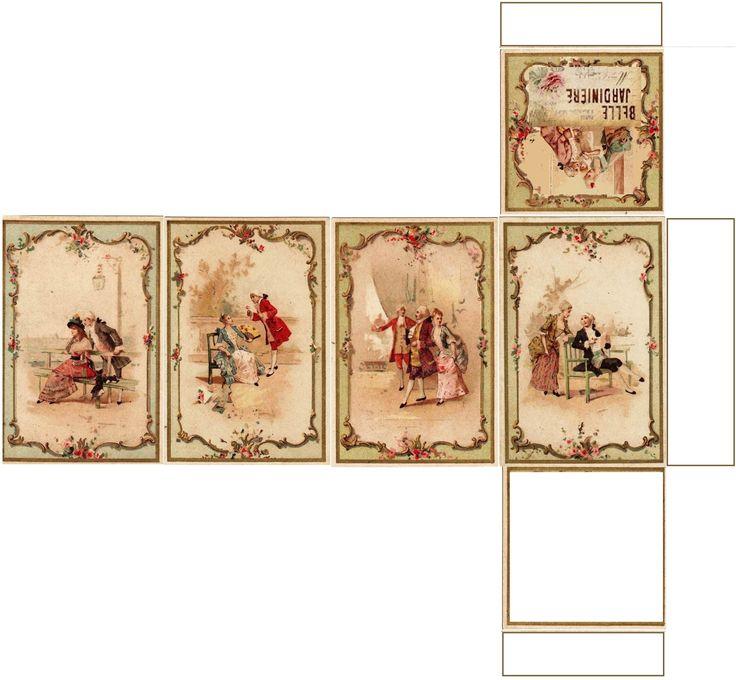 Boite rectangulaire haute images XVIIIème création Pascale Appiani