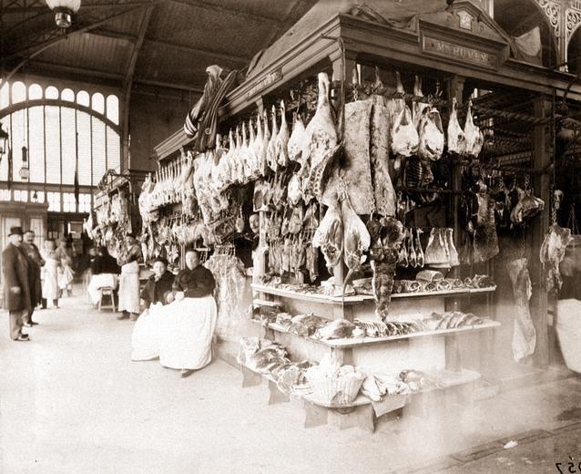 Eugene Atget | eugene atget boucheries les halles 1898 tirage entre 1898 et 1900 d ...