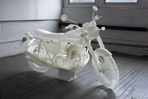 3ders.org - New York artist creates a life-sized Honda CB500 motorcycle using just an Ultimaker 3D printer | 3D Printer News & 3D Printing News