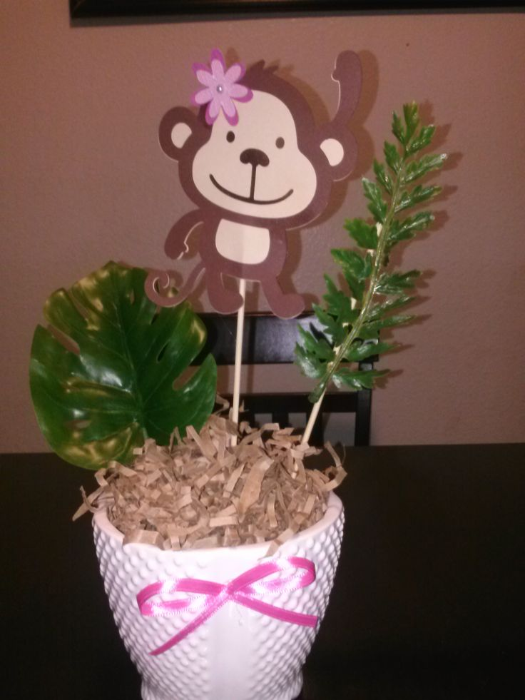 monkeys baby shower centerpieces girls babyshower baby shower bday