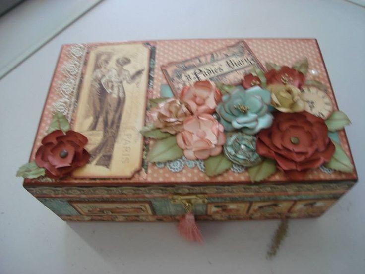 caixa vintage | maria helena dos santos siqueira | Elo7                                                                                                                                                                                 Mais