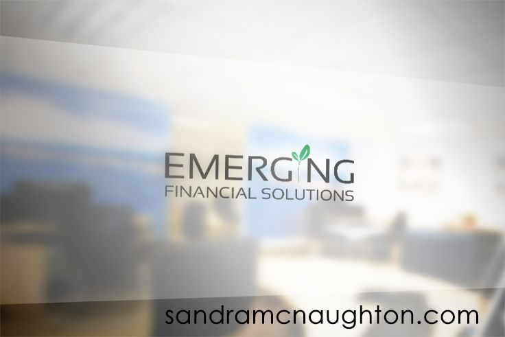 Logo I created for Emerging Financial Solutions. To see more of my work, please visit my website www.sandramcnaughton.com