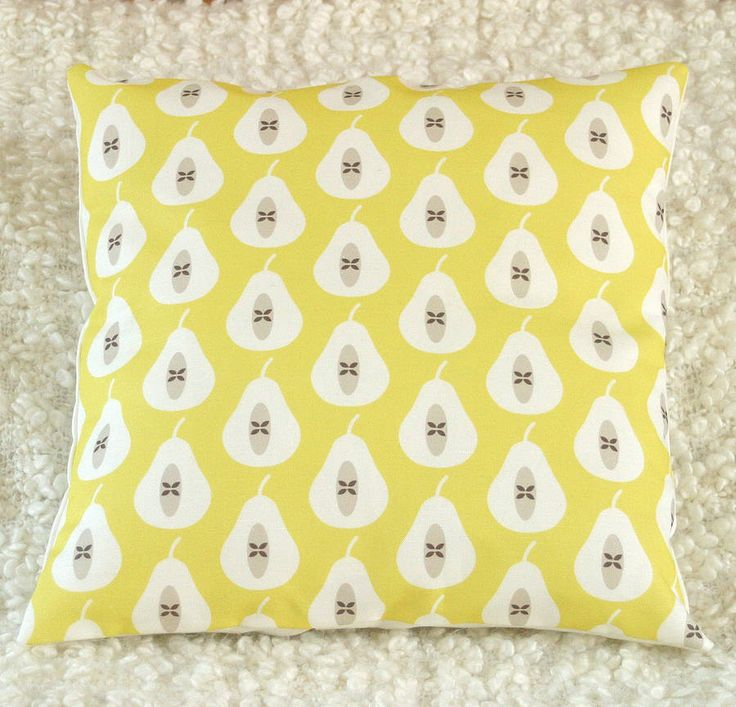 pear print cushion cover by louise brainwood | notonthehighstreet.com