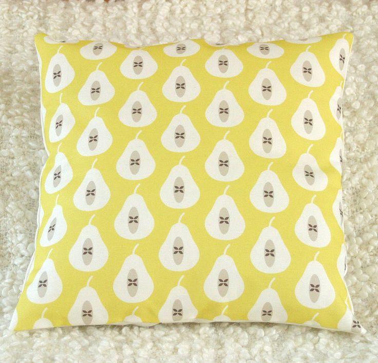 pear print cushion cover by louise brainwood | notonthehighstreet.com