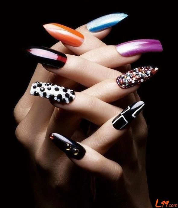 Purple nail art designs acrylic nail designs - Beautiful Nail Art Www Mkclearance Com Nails Art