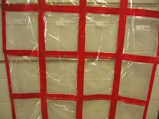 ZiPLoC Quilt..duct tape and ziplock bags ..great for quick change hallway kids work display