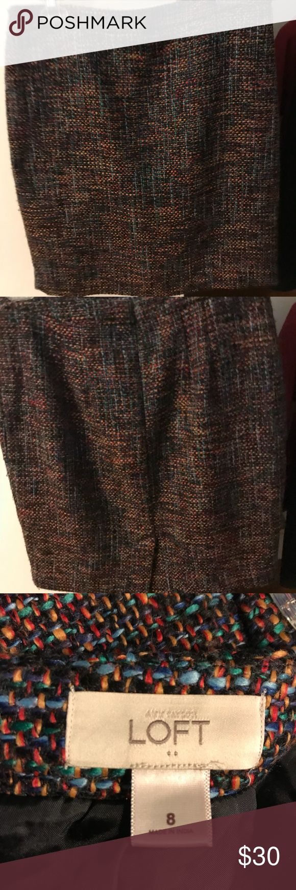 "Ann Taylor Loft skirt Multi colored skirt. Slim fit. Only worn a couple times. 20"" length LOFT Skirts"