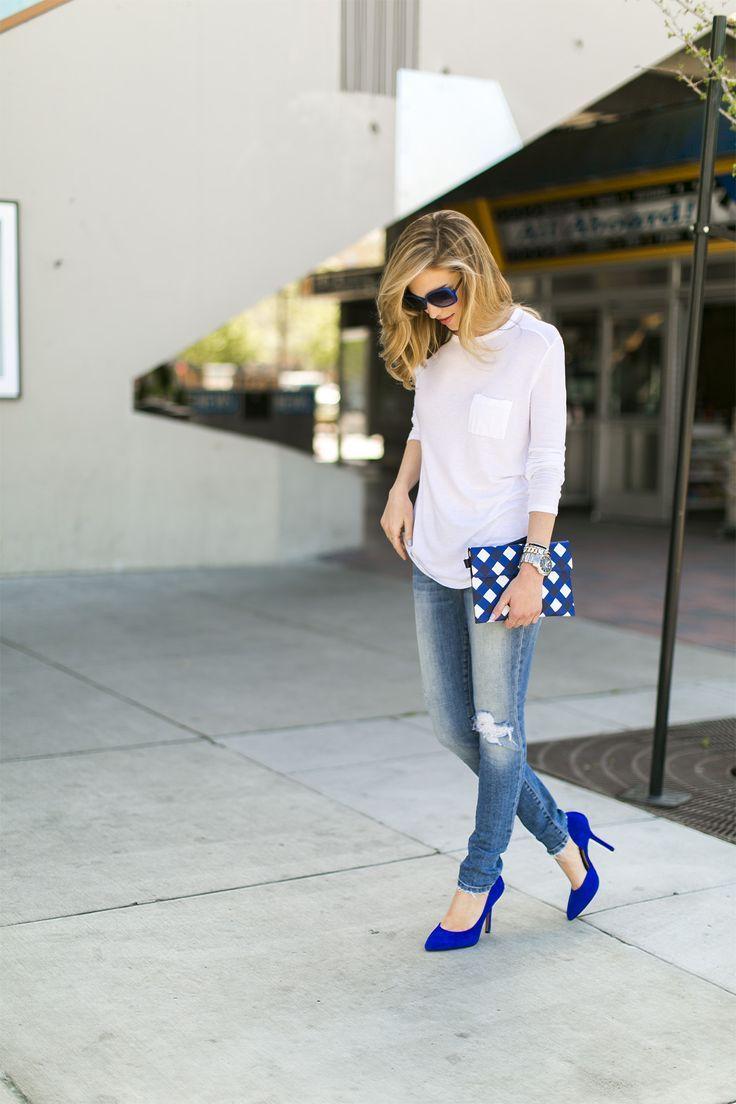 cool Эффектные и модные синие туфли (50 фото) — С чем носить в 2017?
