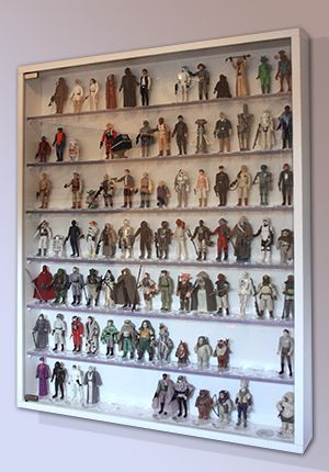 DIY action figure display with glass door