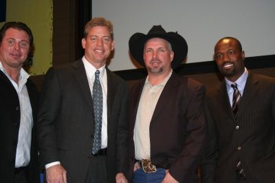 Troy Aikman and Garth Brooks