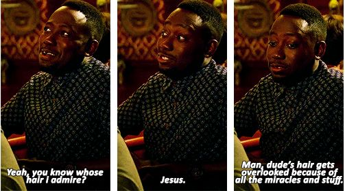"""When he had divine hair goals. 